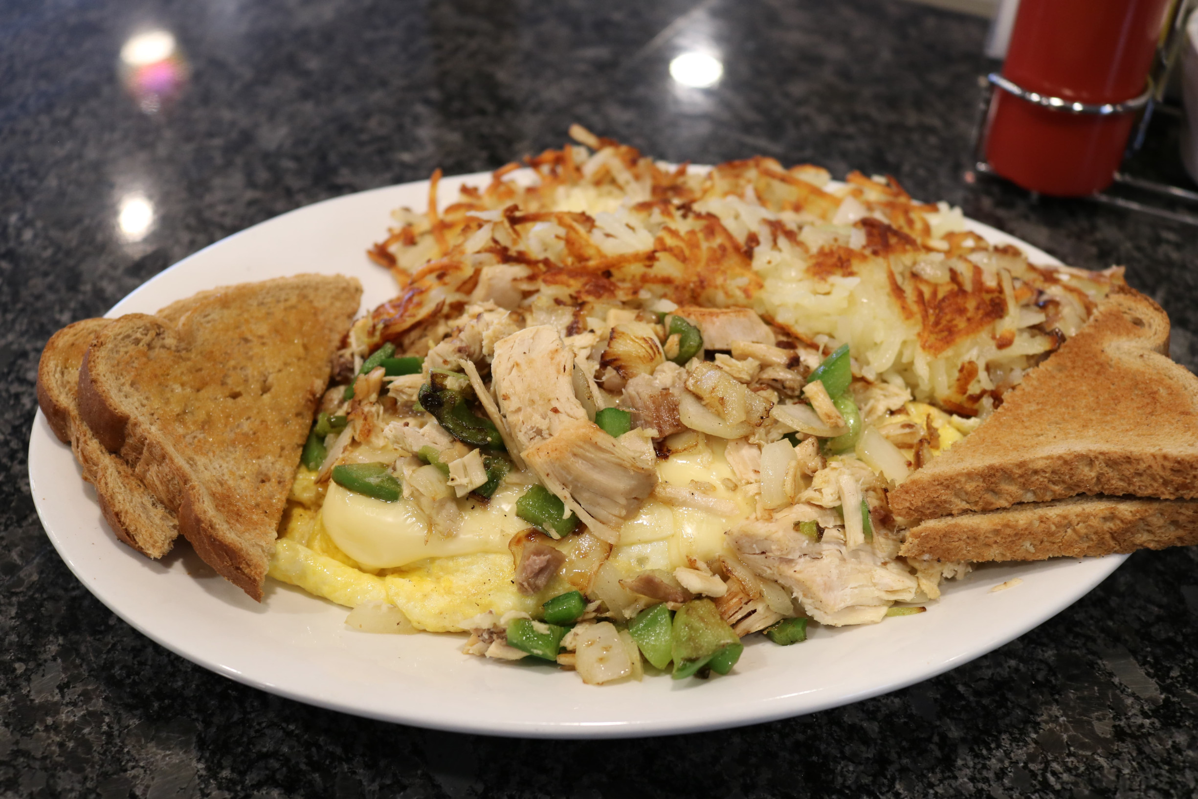 Turkey and Swiss Omelet