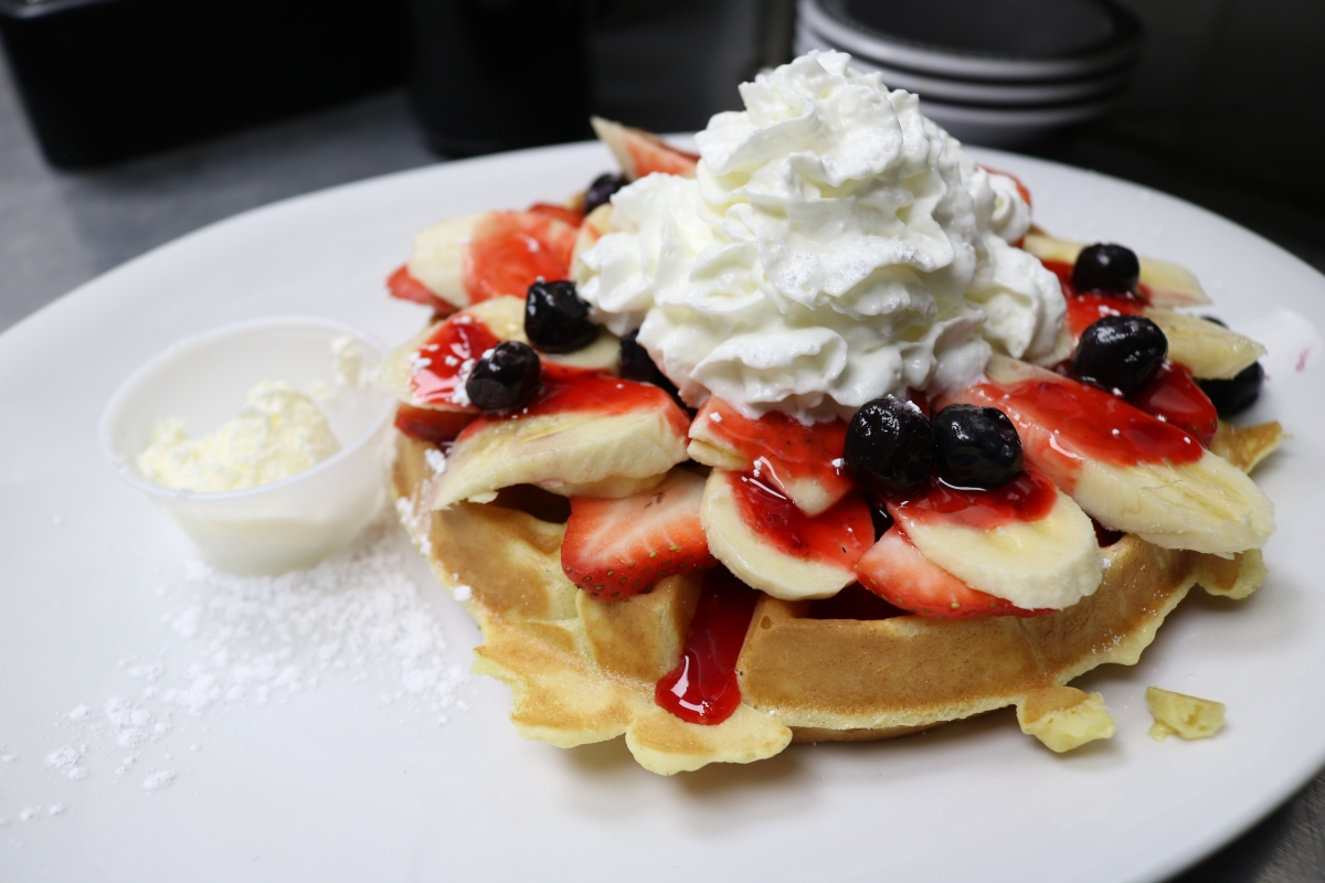 Strawberries Cream Belgian Waffle