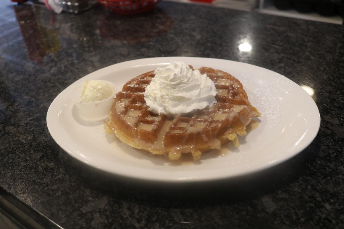 Belgian Waffle with Cream